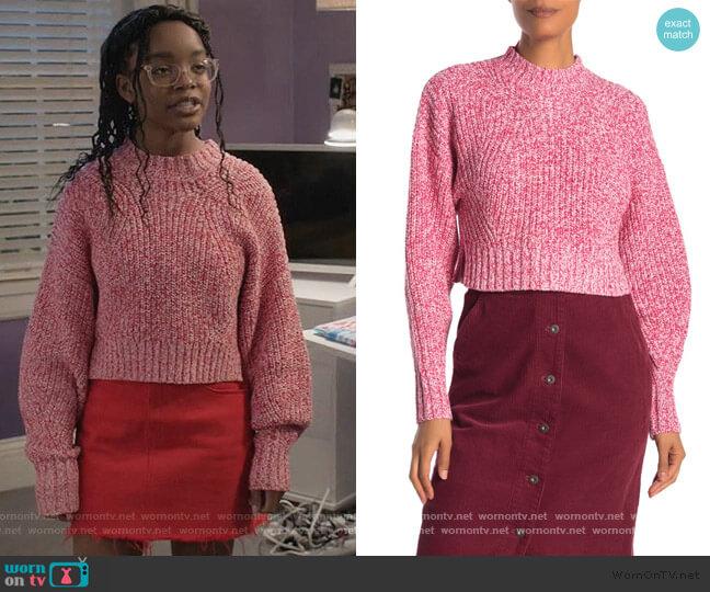 Bowie Crop Pullover Sweater by Rebecca Minkoff worn by Diane Johnson (Marsai Martin) on Blackish