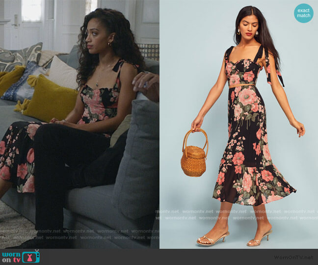 Liana Two Piece by Reformation worn by Olivia Baker (Samantha Logan) on All American