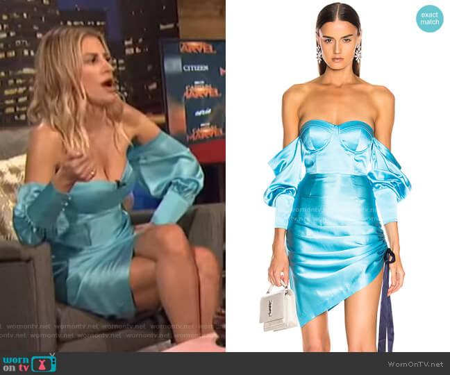 Cori Dress by Retrofete worn by Morgan Stewart  on E! News