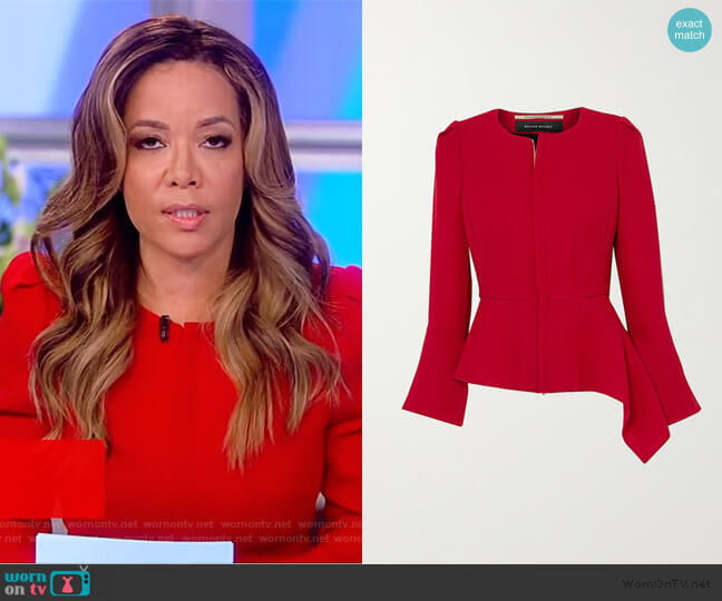 Noto Assymetric Jacket by Roland Mouret worn by Sunny Hostin  on The View