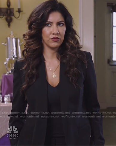 Rosa's black single breasted blazer on Brooklyn Nine-Nine