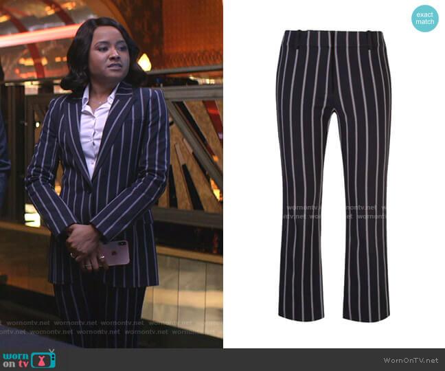 Striped Crop Pants by Derek Lam 10 Crosby worn by Rhyon Nicole Brown on Empire