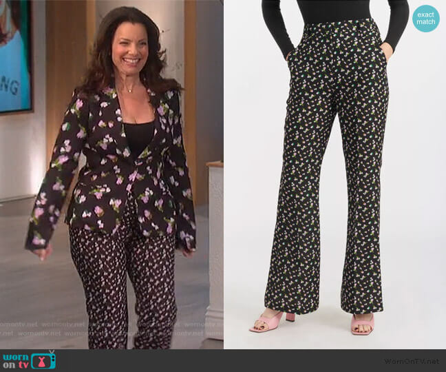 Reese Pants by Tanya Taylor worn by Fran Drescher on The Talk