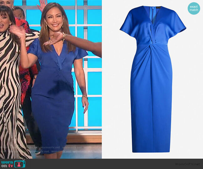 Ellame wrap-waist Crepe Dress by Ted Baker worn by Carrie Inaba  on The Talk