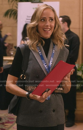 Teddy's grey double breasted vest on Greys Anatomy
