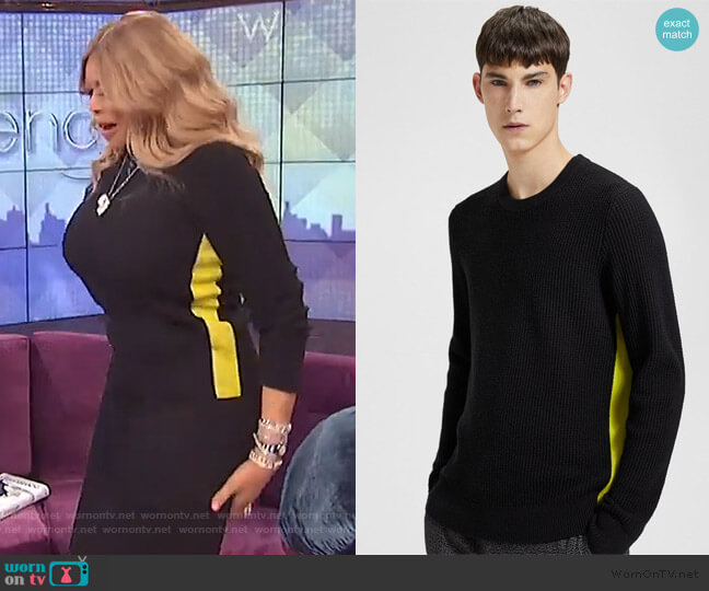 Side Striped Sweater by Theory worn by Wendy Williams  on The Wendy Williams Show