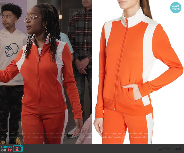 Colorblock Track Jacket and Pants by Tory Sport worn by Diane Johnson (Marsai Martin) on Blackish