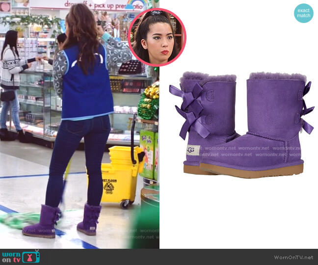 Bailey Bow II Boot by Ugg Kids worn by Cheyenne (Nichole Bloom) on Superstore