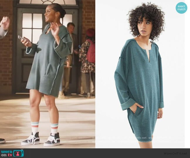 Jax Ribbed Notch Mini Dress by Urban Outfitters worn by Geffri Maya on All American