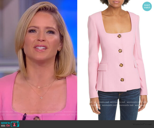 Ria Square Neck Jacket by Veronica Beard worn by Sara Haines  on The View