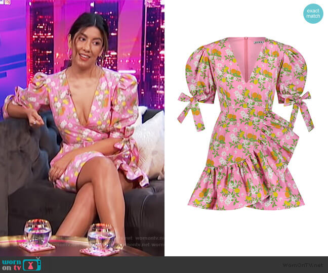 Harbor Dress by Viva Aviva worn by Stephanie Beatriz on E! News Nightly Pop
