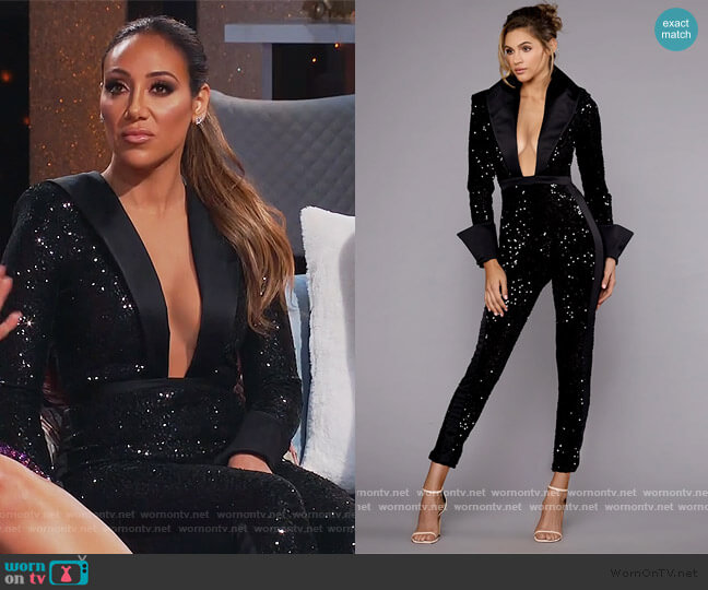 Kingston Jumpsuit by Walter Collection worn by Melissa Gorga  on The Real Housewives of New Jersey