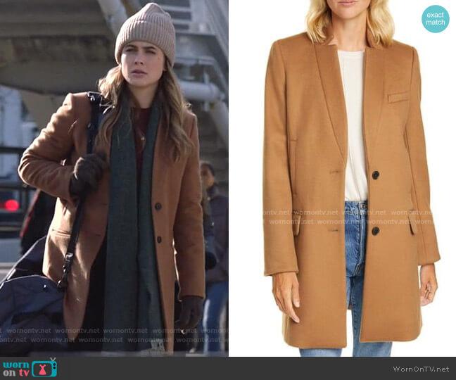 Wool Blend Car Coat by Veronica Beard worn by Michaela Stone (Melissa Roxburgh) on Manifest