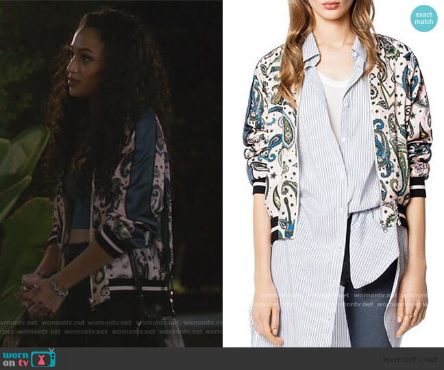 Billie Reversible Paisley Jacket by Zadig & Voltaire worn by Olivia Baker (Samantha Logan) on All American