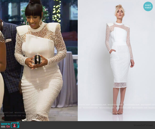 Empire Dress by Zhivago worn by Tanya Sam on The Real Housewives of Atlanta