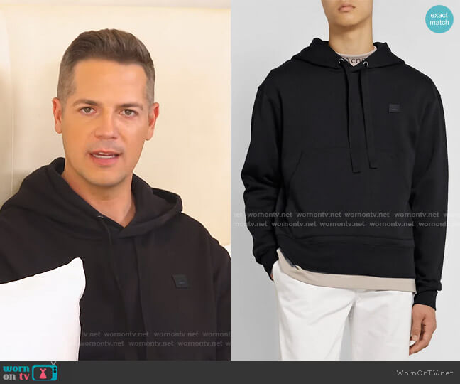 Logo-Appliquéd Hoodie by Acne Studios worn by Jason Kennedy on E! News