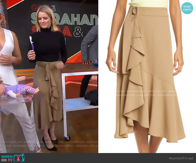 Pierre Ruffle Skirt by A.L.C. worn by Sara Haines  on Good Morning America