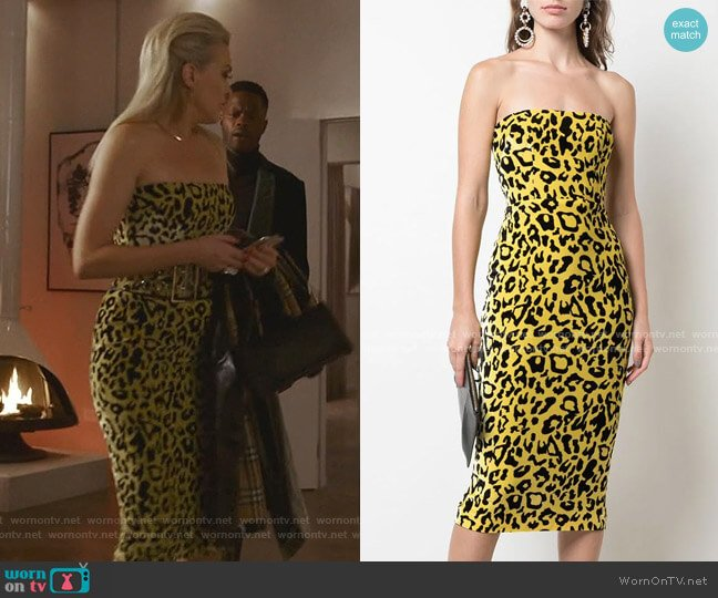 Nolan Velvet Touch Strapless Dress by Alex Perry worn by Alexis Carrington (Elaine Hendrix) on Dynasty