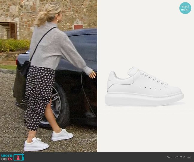 Alexander McQueen Leather exaggerated-sole sneakers worn by Kristin Cavallari  on Very Cavallari