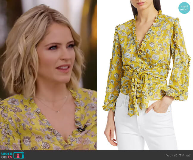 Odilo Flora Wrap Top by Alexis worn by Sara Haines  on Good Morning America
