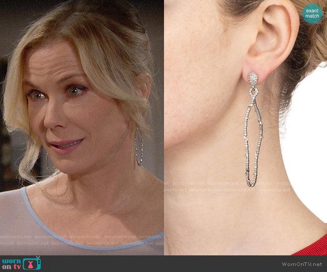 Alexis Bittar Modern Georgian Pavé Twisted Teardrop Earrings worn by Brooke Logan (Katherine Kelly Lang) on The Bold & the Beautiful