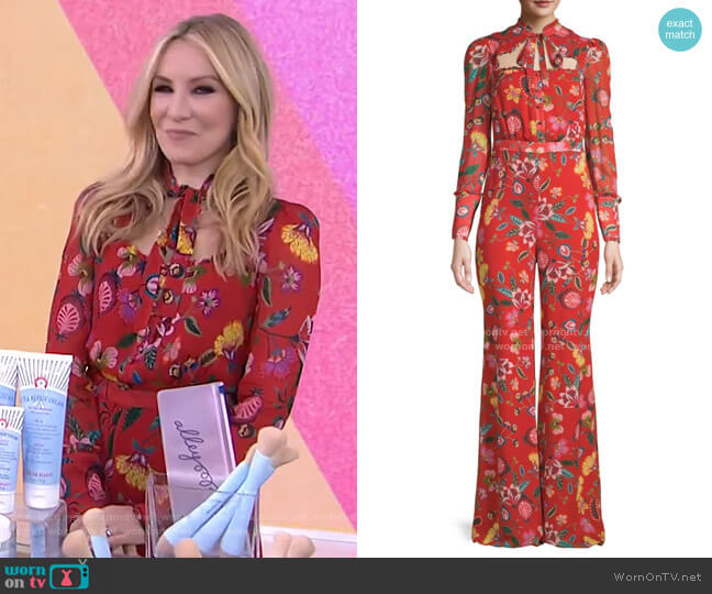 Imogene Floral Jumpsuit by Alexis worn by Chassie Port on Today