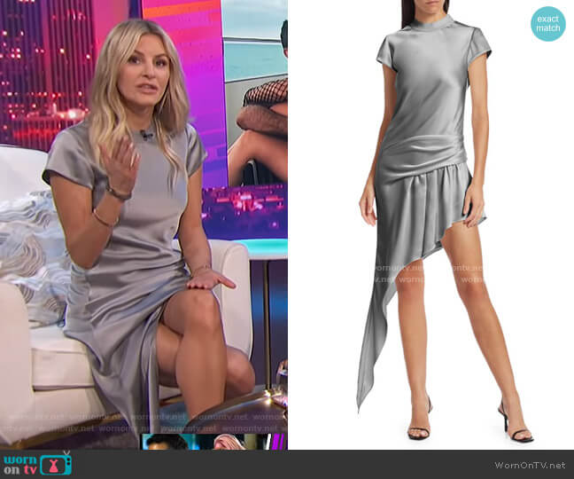 Asymmetric Draped Mini Dress by Alexander Wang worn by Morgan Stewart  on E! News