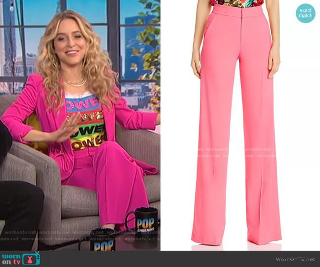Dylan Pants by Alice + Olivia worn by Jenny Mollen on E! News