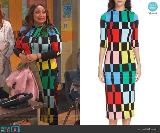 Delora Dress by Alice + Olivia worn by Raven Baxter (Raven-Symoné) on Ravens Home