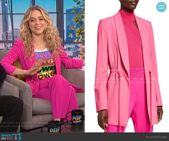Kylie Drawstring Blazer by Alice + Olivia worn by Jenny Mollen on E! News