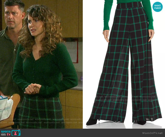 Alice + Olivia Athena Trousers worn by Sarah Horton (Linsey Godfrey) on Days of our Lives