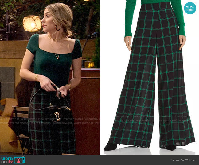 Alice + Olivia Athena Trousers worn by Ava Germaine (Chelsea Kane) on The Expanding Universe of Ashley Garcia