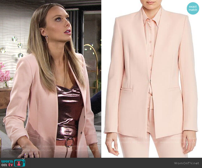 Alice + Olivia Jerri Blazer worn by Abby Newman (Melissa Ordway) on The Young & the Restless