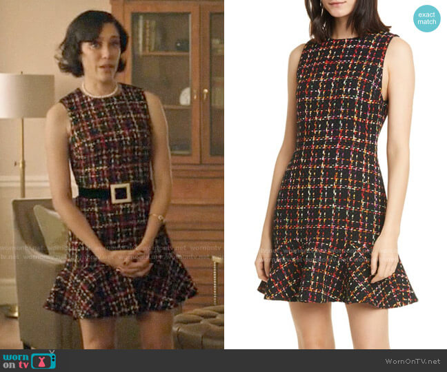 Alice + Olivia Sonny Tweed Dress worn by Hermione Lodge (Marisol Nichols) on Riverdale