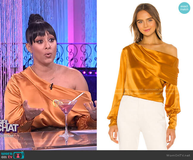 Catherine Blouse by Alix NYC worn by Tamera Mowry  on The Real