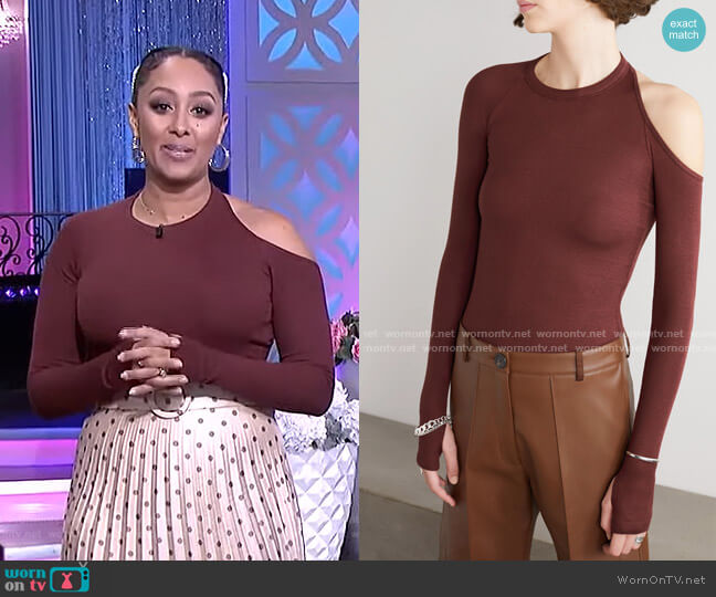 Eaton Bodysuit by Alix NYC worn by Tamera Mowry  on The Real