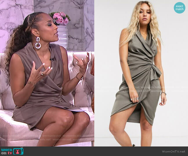 Cancity Dress by All Saints worn by Amanda Seales  on The Real