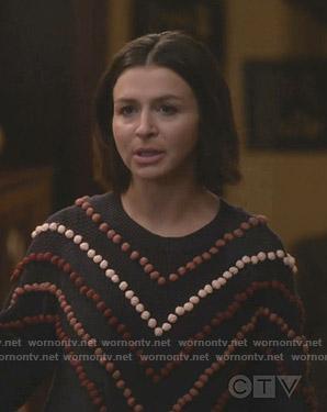 Amilia's pom pom trim sweater on Greys Anatomy
