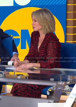 Amy's red zebra print dress on Good Morning America