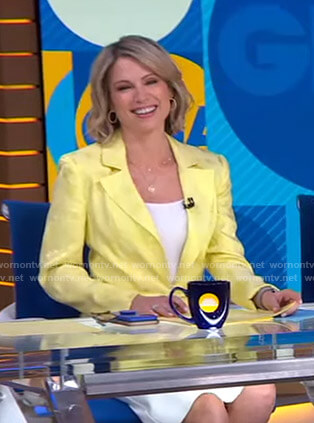 Amy's yellow floral blazer on Good Morning America