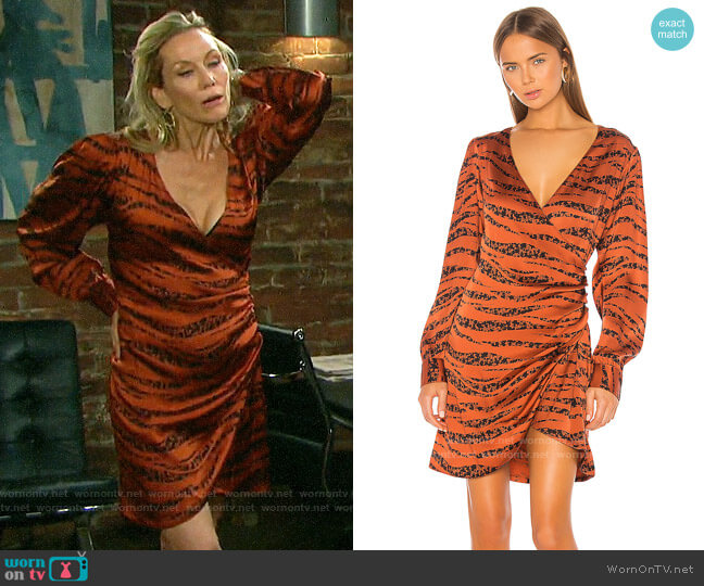 Anine Bing Penelope Dress worn by Kristen DiMera (Stacy Haiduk) on Days of our Lives