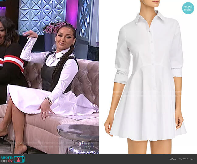 Long-Sleeve Button-Front Shirtdress by Aqua worn by Adrienne Houghton  on The Real