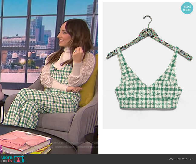 Tweed Crop Top by Zara worn by Lilliana Vazquez  on E! News