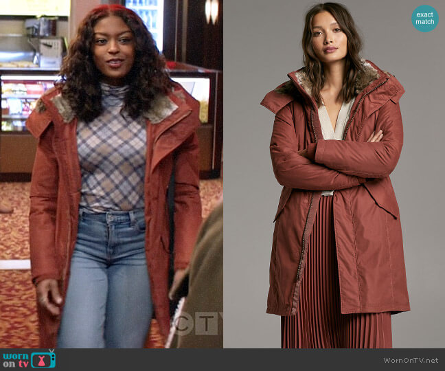 Aritzia Babaton Oska Parka worn by Ali Finer (Javicia Leslie) on God Friended Me