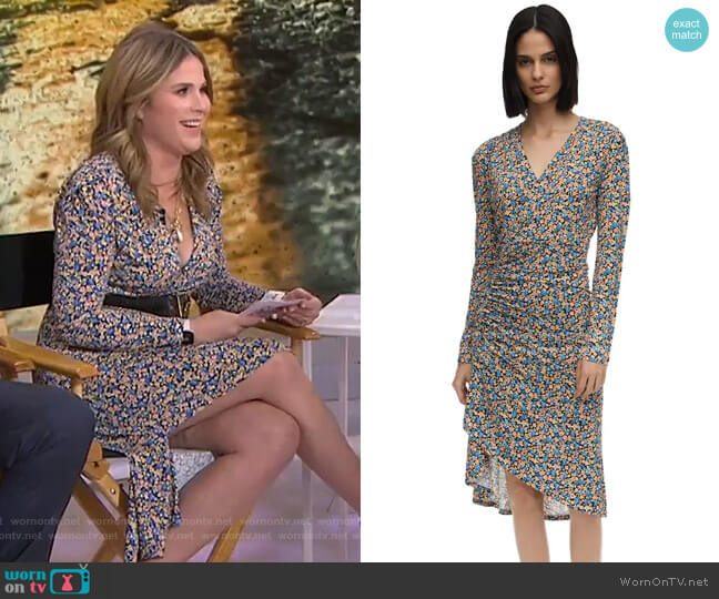 Floral Print Jersey Dress by Atlein worn by Jenna Bush Hager  on Today