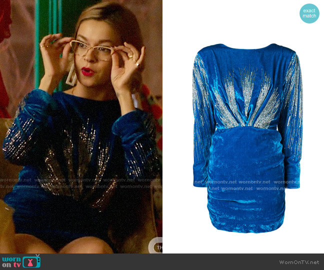 Attico Sequin Embellished Dress worn by Pepper Smith (Julia Chan) on Katy Keene