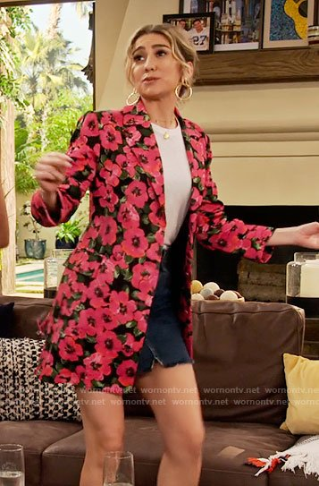 Ava's pink floral blazer on The Expanding Universe of Ashley Garcia