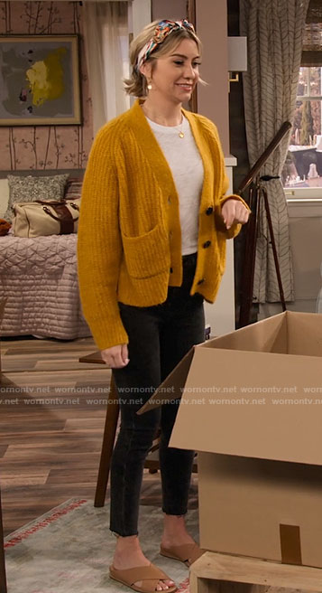 Ava's yellow cardigan on The Expanding Universe of Ashley Garcia