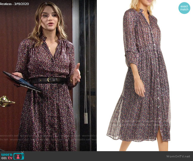 ba&sh Dean Dress worn by Summer Newman (Hunter King) on The Young & the Restless