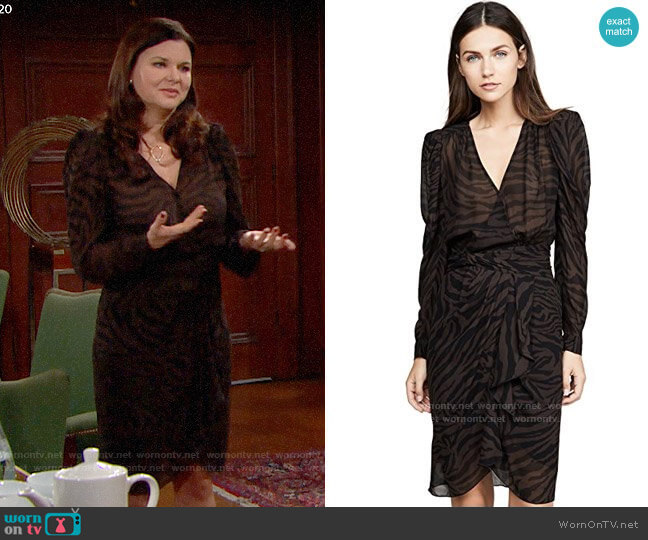 ba&sh Saphir Dress worn by Katie Logan (Heather Tom) on The Bold & the Beautiful